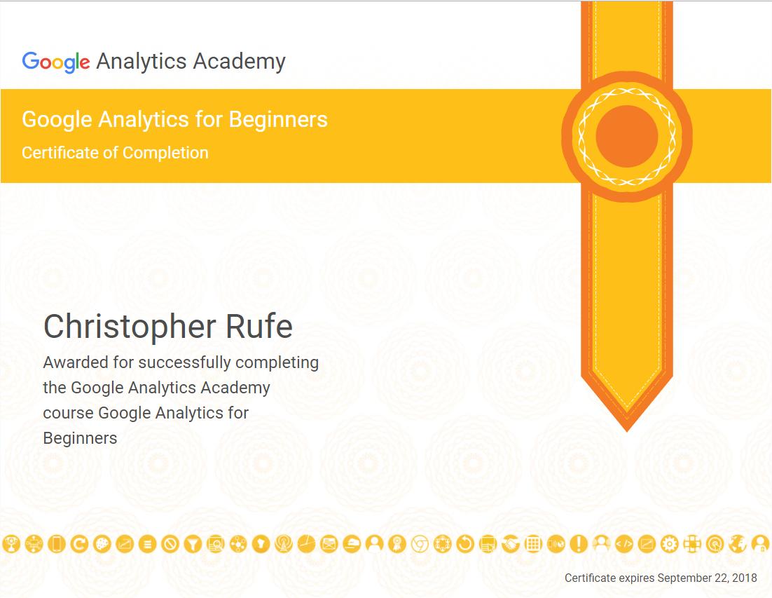 Google Analytics Academy Tquist